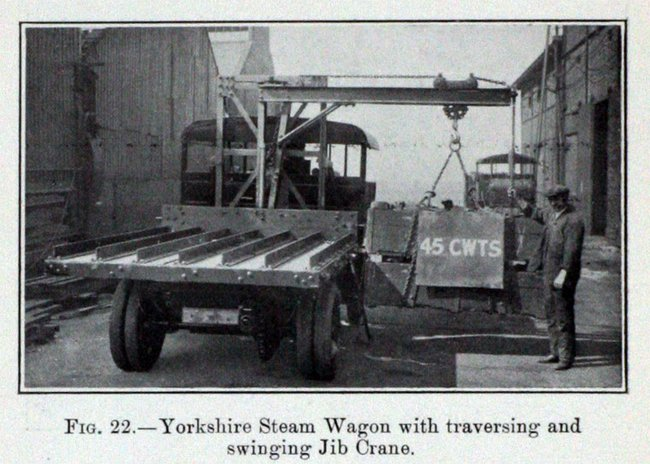 Y Steam Wagon With Crane Works Photo Gg